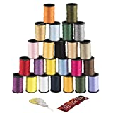 Image of Singer Polyester Thread, Assorted Colors, 24 Spools