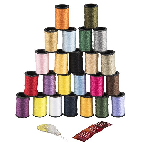 Singer Polyester Thread, Assorted Colors, 24 Spools (Polyester Thread Kit)