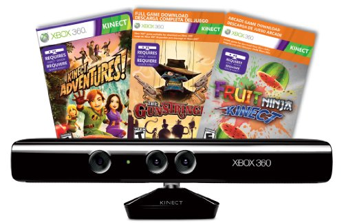 Xbox 360 Blaster - Kinect Sensor with Kinect Adventures and Gunstringer Token Code (OLD MODEL)