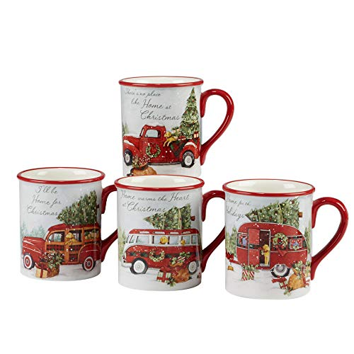 Certified International 22783SET4 Home for Christmas 18...