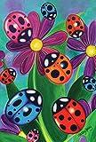 Toland Home Garden Colorful Ladybirds and Ladybugs Garden Flag, Small