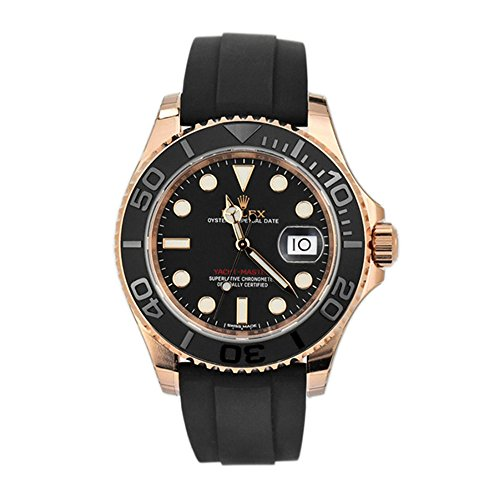 Rolex Yacht Master 40 Black Dial18k Rose Gold Mens Watch 116655 (Rolex Yacht Master Ii Stainless Steel Price)