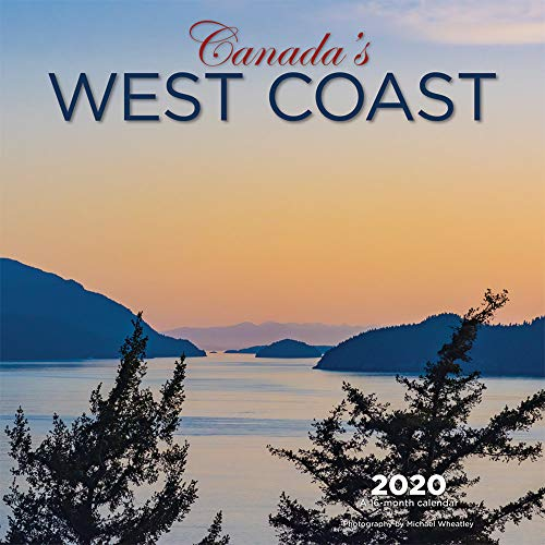 Canada's West Coast 2020 12 x 12 Inch Monthly Square Wall Calendar, Canadian Regional Travel Canada (West Canada Coast)