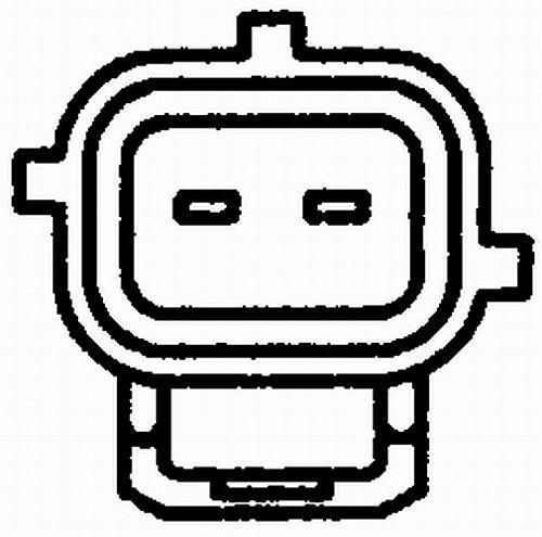 con guarnizione Temperatura refrigerante HELLA 6PT 009 107-481 Sensore N/° raccordi 2