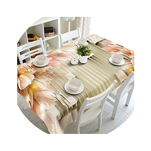 Customize 3D Tablecloth Europe Carved Flowers Pattern Waterproof Cloth Thicken Rectangular Wedding Table Cloth Home Textiles,Color 5,90Cm X 150Cm ()