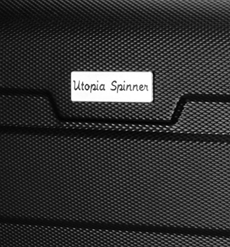 20-Inch-ABS-Lightweight-Carry-On-Spinner-Luggage-Black-by-Utopia-Home