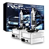 RCP - D1R8 - (A Pair) D1R 8000K Xenon HID Replacement Bulb Factory Ice Blue Metal Stents Base 12V Car Headlight Lamps Head Lights 35W