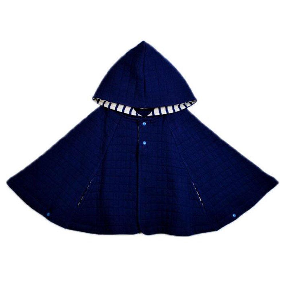 Yying Abrigos Ni/ños Capote Algod/ón Beb/és Poncho S/ólido Abrigos Calientes Invierno Chal Ni/ños Beb/és Beige Gris Rosa Azul 70 80 90