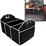 Etbotu Folding Multi Compartment Car Trunk Storage Bag Travel Tidy Bags