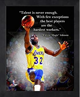 Amazon dwyane wade miami heat pro quotes framed 8x10 photo magic johnson la lakers pro quotes framed 8x10 photo voltagebd Gallery