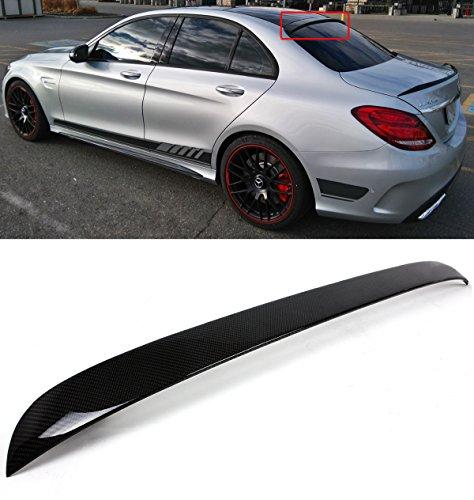 Carbon Fiber Look GZYF ABS Auto Front Bumper Lip Cover Trim Fits 2015-2018 Mercedes Benz C-Class W205 Sport DP Style