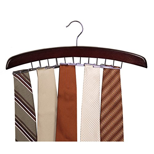 Richards Homewares Dark Walnut/Tie Holder Hanger Closet Accessories 24 Hardwood (1-Pack) (75531)