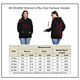 IN'VOLAND Women's Plus Size Pullover Hoodie Striped