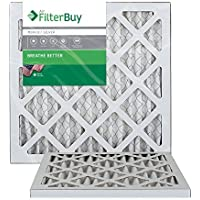 AFB Silver MERV 8 12x12x1 (Actual Size) Pleated AC Furnace Air Filter. Filters. 100% produced in the USA. by FilterBuy