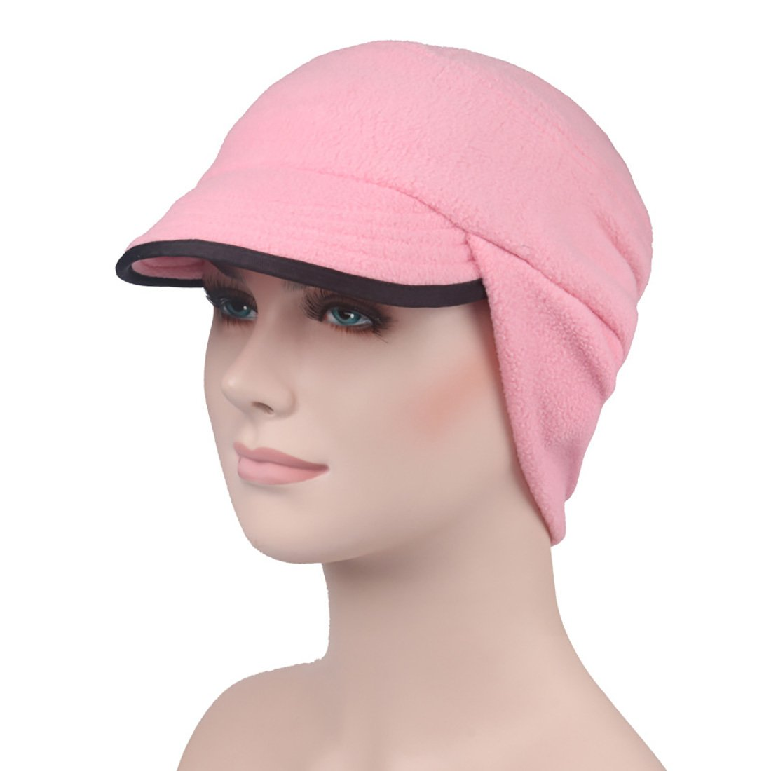 BeFur Unisex Schirmmütze Winddichte Wintermütze Ohrenschutz Fahrkappe Gesichtsmaske Skimaske schiebermütze Schildmütze