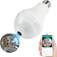 360 Degree Panoramic Camera WiFi IP Camera Baby Monitor Camera 1080P Home Security Camera System Wireless Camera with Night Vision 2 Way Audio Multi Viewing Modes Easy to Use for Indoor Surveillance