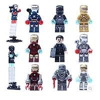 Iron Man Set of 9 Minifigures LEGO Compatible Super Heroes Avengers Mini Figures Building Bricks Blocks Early Development Learning Toys