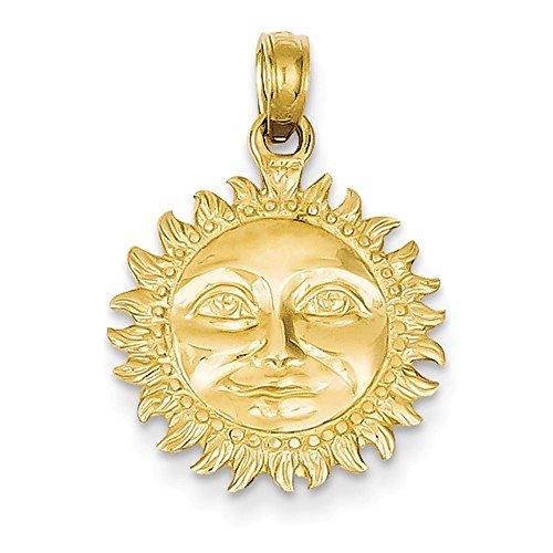 CKL International 14k Yellow Gold Sun Celestial 3D Pendant Charm