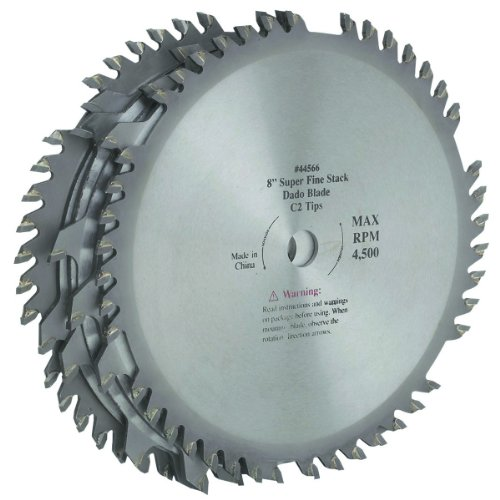 8 inch C2 Tungsten Carbide Tipped Dado Blade Two 42 tooth outside blades 5/8