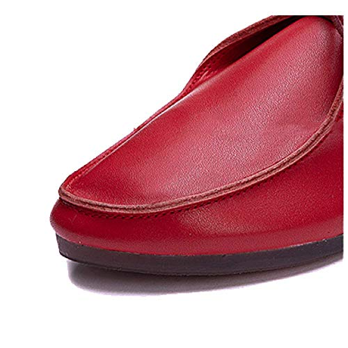 ZPEDY Usable Encaje Cómodo Retro Zapatos De Black Casual Cuero Ligero Señoras rnx8OTwqr