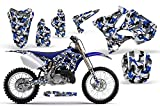 Urban Camo-AMRRACING MX Graphics decal kit fits Yamaha YZ 125/250 (2002-2013)-Blue