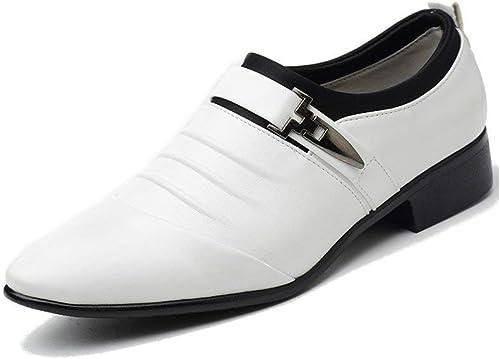 Zapatos Vestir Hombre Oxford Cuero Derby Traje Casual Fiesta Punta Boda Comodos Casuales Negocios Formales Moda Calzado Blanco Negros Marron 38 48