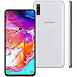 Smartphone Samsung Galaxy A70, 128Gb, Tela 6.7'', Branco, Sm-A705Mzwjzto