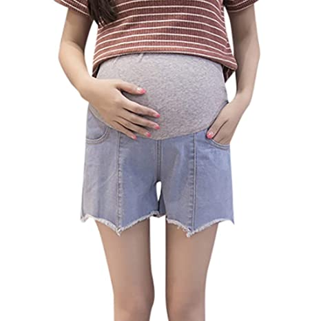 WNuanjun Pantalones Cortos de Talla Grande Mujer Pantalones ...