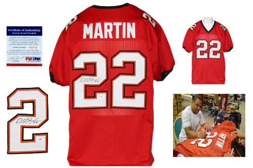 Doug-Martin-Signed-Custom-Jersey-PSADNA-Autographed-w-Photo-Red