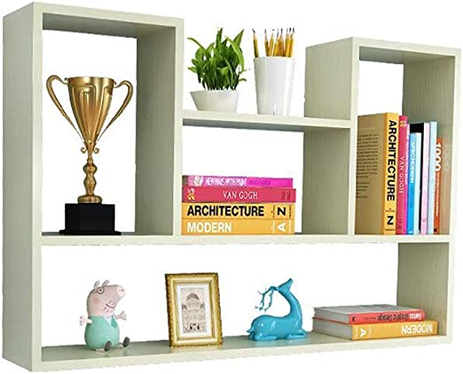 Amazon.com: Bookcases Shelf Wall Punch-Free Bedroom Storage ...