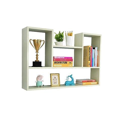 Amazon.com: Bookcases Shelf Wall Punch-Free Bedroom Storage Storage ...