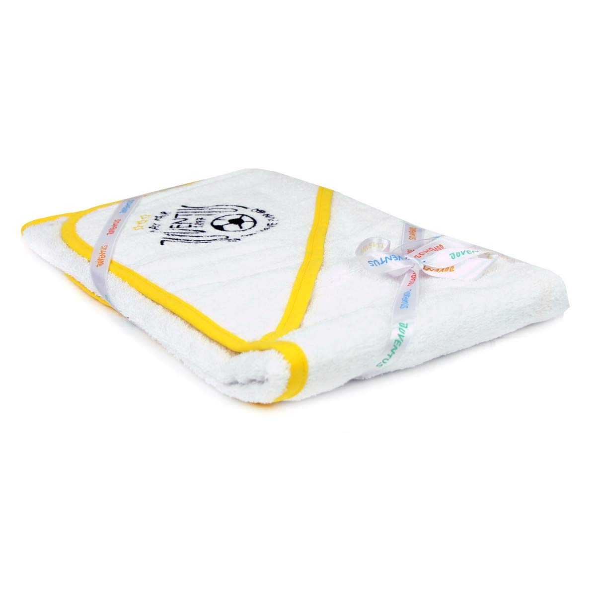 FC Juventus Triangle Baby Newborn Bath Towel with Hood Sponge Cotton Official