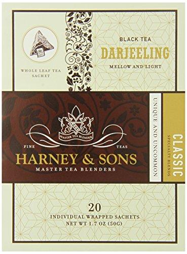 Harney & Sons Black Tea, Darjeeling, 20 Sachets (Pack of ()