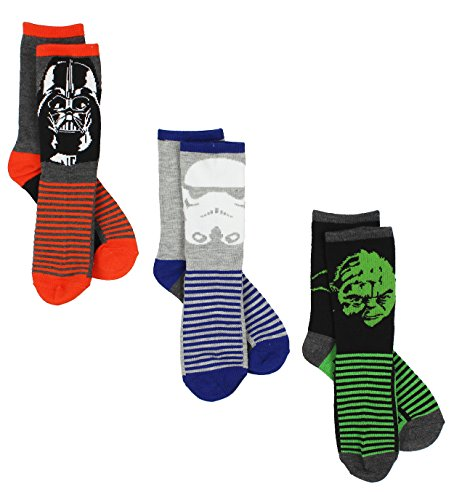 Star Wars For Boys (Star Wars Boys 3 pack Socks (6-8 (Shoe: 10-4), Grey/Multi Crew))