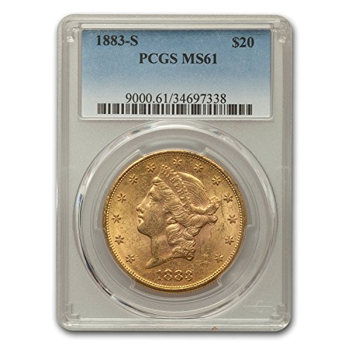 1883 S $20 Liberty Gold Double Eagle MS-61 PCGS G$20 MS-61 PCGS