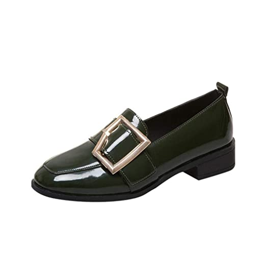 766524561e9c Amazon.com: Classic Slip On Toe Flats Shoes, Vintage Buckle Patent ...