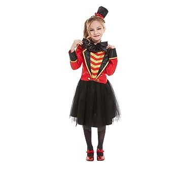 NET TOYS Disfraz directora de Circo niña - Negro-Rojo M, 7 - 9 ...