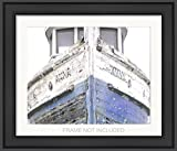 Nautical Ship, Beachy, Cottage Decor, Sea, Rustic Wall Art, Navy Fixer Upper, Bathroom, 8x10 Matted print