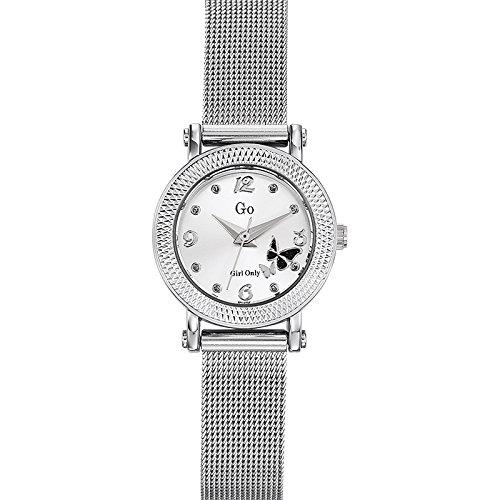 Go girl only 694956 - Reloj de Pulsera Mujer, Acero Inoxidable, Color Plateado: Amazon.es: Relojes
