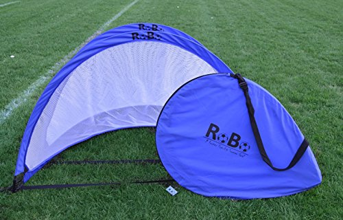 Robo 5 Footer Portable Training Soccer Goal Boxed Set (Two Goals & Bag) (Blue)