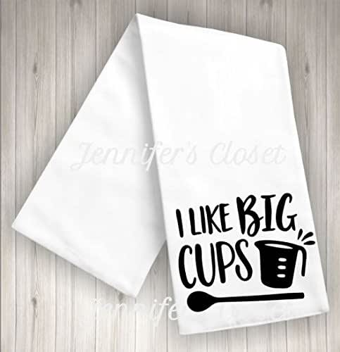 Amazon.com: I Like Big Cups, Funny Kitchen towels, flour