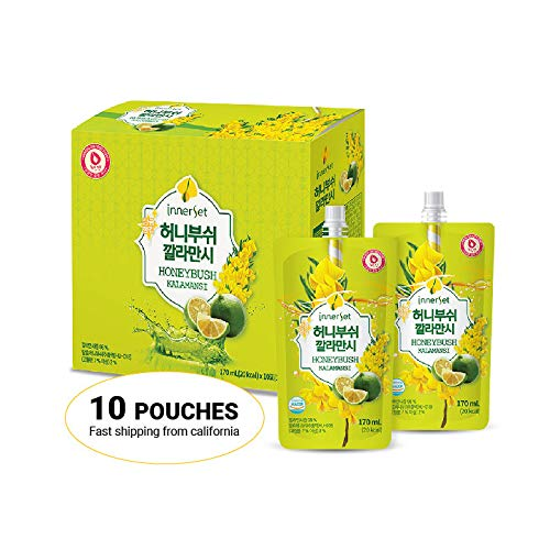 Calamansi Honeybush Korean Beauty Drink 1 Box - 10 Pouches/Diet Food/Weight Loss/Skin Care/Vitamin C/Collagen/ Anti Wrinkle/Made in Korea/Ships from US