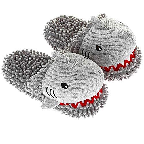 Aroma Home Women's Shark Animal Fuzzy Friends Warm Slippers -
