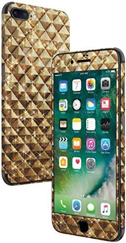 igsticker iPhone SE 2020 iPhone8 iPhone7 専用 スキンシール 全面スキンシール フル 背面 側面 正面 液晶 ステッカー 保護シール 004965 ラグジュアリー ゴールド 金 メタリック