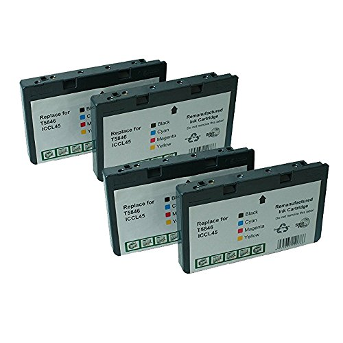 Picturemate Dash (Colour-Store 4 Pack Remanufactured Epson T5846 for use in PictureMate Charm - PM 225, PictureMate Dash PM 260, PictureMate Flash PM 280, PictureMate Pal PM 200, PictureMate Show PM 300m)