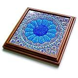 3dRose Danita Delimont - Patterns - Islamic pottery designs. Madaba, Jordan - 8x8 Trivet with 6x6 ceramic tile (trv_276920_1)