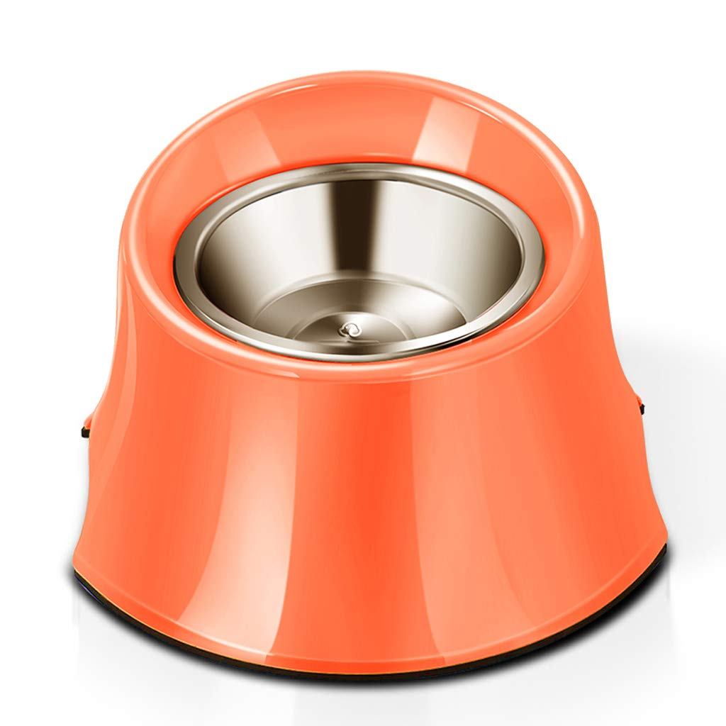 Large MXD Pet Supplies Stainless Steel Dog Bowl Large Dog Rice Bowl Pet Food Bowl Large Dog Food Bowl High Bowl (Size   L)