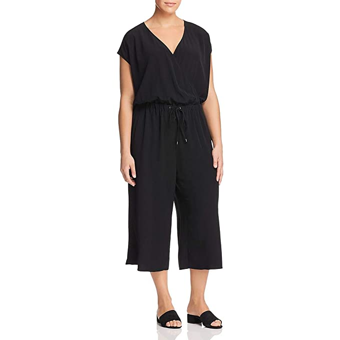 201dccafd3d Eileen Fisher Womens Plus Wide-Leg Cropped Jumpsuit Black 1X: Amazon.ca:  Clothing & Accessories