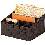 Honey-Can-Do OFC-03611 Woven Mail and File Desk Organizer, 12 x 10.25 x 7, Espresso