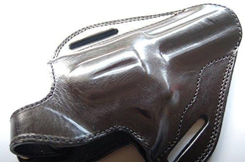 cal38 Leather Handcrafted Leather Belt Holster for Colt Python 357 Mag 4 inch (R.H) Black